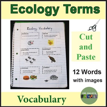 Ecology Vocabulary Words