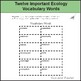 Ecology Vocabulary Words