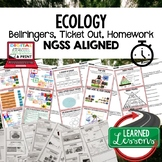 Ecology Warm Ups & Bell Ringers, NGSS, Print & Digital Dis