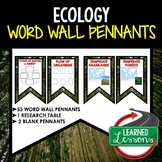 Ecology Word Wall 53 Pennants (Life Science Word Wall)