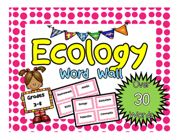 Ecology Word Wall Cards