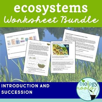 Ecosystems Worksheet Bundle