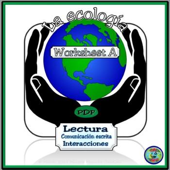 Ecology Worksheet A - Saving The Planet / Salvemos nuestro planeta