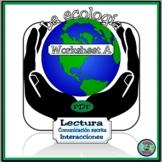 Ecology Worksheet A Saving The Planet - Salvemos nuestro planeta