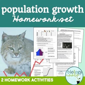 Ecology Worksheets: Population Growth Homework