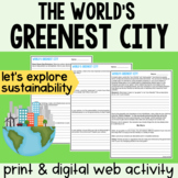 Ecology - World's Greenest City Web Investigation