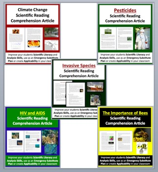 Ecology and Earth Science - Grade 8 and Up - Science Reading Article Bundle