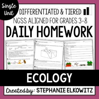 Ecology and Ecosystems Homework