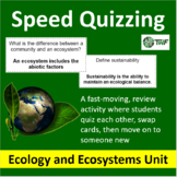 Ecology and Ecosystems - Speed Quizzing