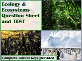 Ecology and Ecosystems Review Sheet and TEST (with keys)