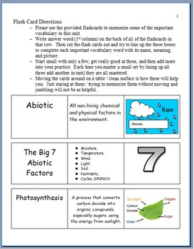 Ecology Flashcards