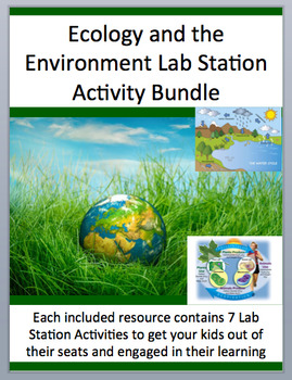 Ecology and the Environment Lab Station Activity Bundle -