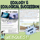 Ecology, succession, habitats webquest 7 8 grade jr high TX TEKS 7.10A,B & 8.11C