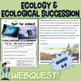 Ecology ecological succession habitats webquest 6 7 8 grade jr high TX TEKS
