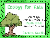 Ecology for Kids Journeys Unit 3 Lesson 15 Fourth Grade Supplement Activities
