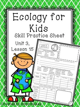 Ecology for Kids (Skill Practice Sheet)