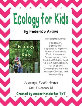 Ecology for Kids Supplemental Activities 4th Grade Journey