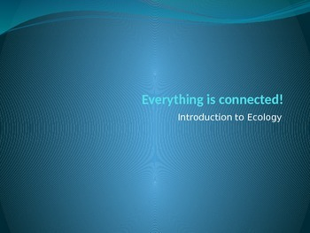 Ecology introduction