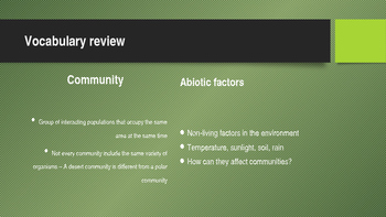 Ecology of Communities Power point