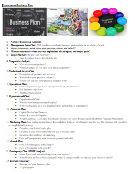 Ecommerce Ebay Business Plan  Draw Multimedia Marketing/Business Project PBL