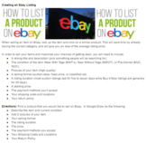 Ecommerce Ebay Creating a listing Draw Multimedia Marketing/BusinessProject PBL