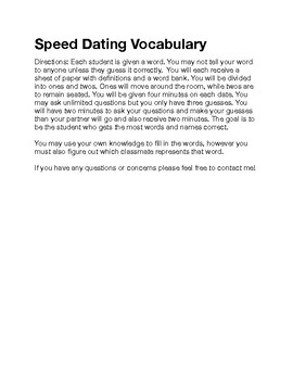 Econ Speed Dating Vocab