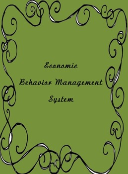 Economic Behavior Plan (Editable)
