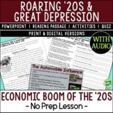 Economic Boom of the 1920s, Roaring '20s