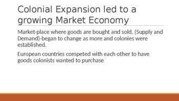 Economic Changes due to Colonization and Exploration Power Point