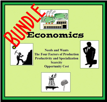 Economics; Scarcity, Opportunity, Factors of Production, N