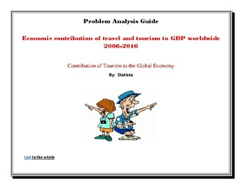 Economic Contribution of Travel and Tourism to GDP Worldwide  - Reading Analysis