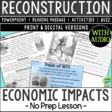 Economic Impacts of Reconstruction, US Civil War
