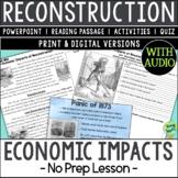Economic Impacts of Reconstruction, US Civil War