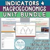 Macroeconomics & Economic Indicators Unit Bundle w/ Exam (