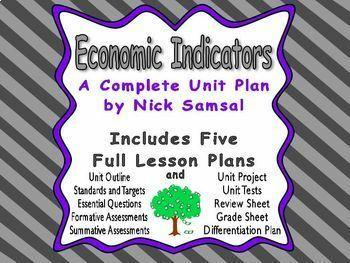 Economic Indicators Unit Plan - Includes Five Full Lesson Plans