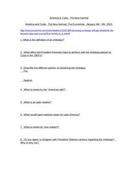 Economic Literacy Embargo AP Macro/Micro