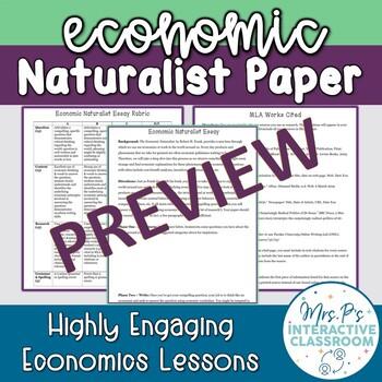 Economic Naturalist Essay Resources for the Economics Classroom!