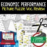 Economic Performance Picture Puzzle, Test Prep, Unit Review, Study Guide
