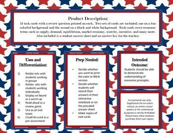 Economic Principle Task Cards