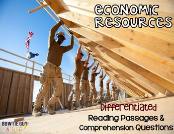 Economic Resources {Differentiated Reading Passages & Questions}
