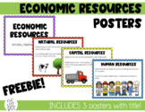 Economic Resources Posters - Natural, Human, Capital