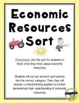 Economic Resources Sort