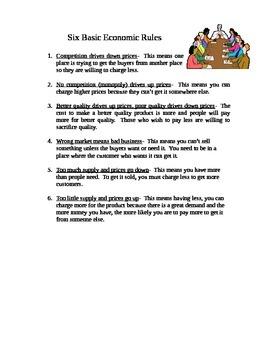 Economic Rules for Upper Elementary