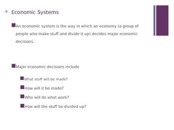 Economic Systems: Command, Market, Mixed Market