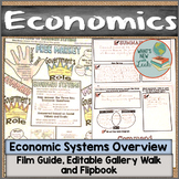 Economic Systems Film Guide, Gallery Walk, and Flipbook