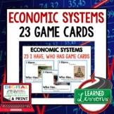 Economic Systems GAME CARDS (Economics and Free Enterprise Test Prep)