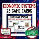 Economic Systems GAME CARDS (Economics and Free Enterprise)