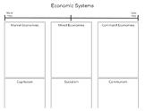 Economic Systems Graphic Organzier