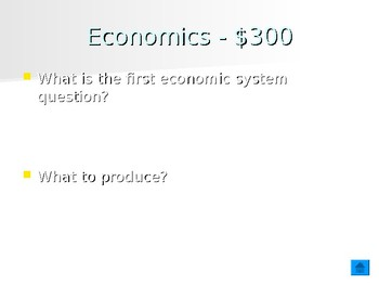 Economic Systems Jeopardy