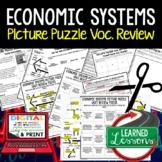 Economic Systems Picture Puzzle, Test Prep, Unit Review, Study Guide